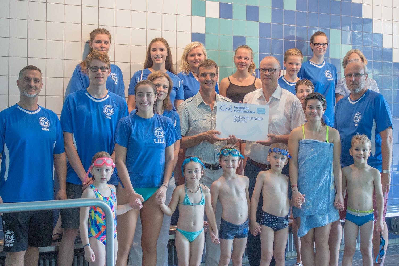 TV Gundelfingen wird als zertifizierte Schwimmschule ausgezeichnet