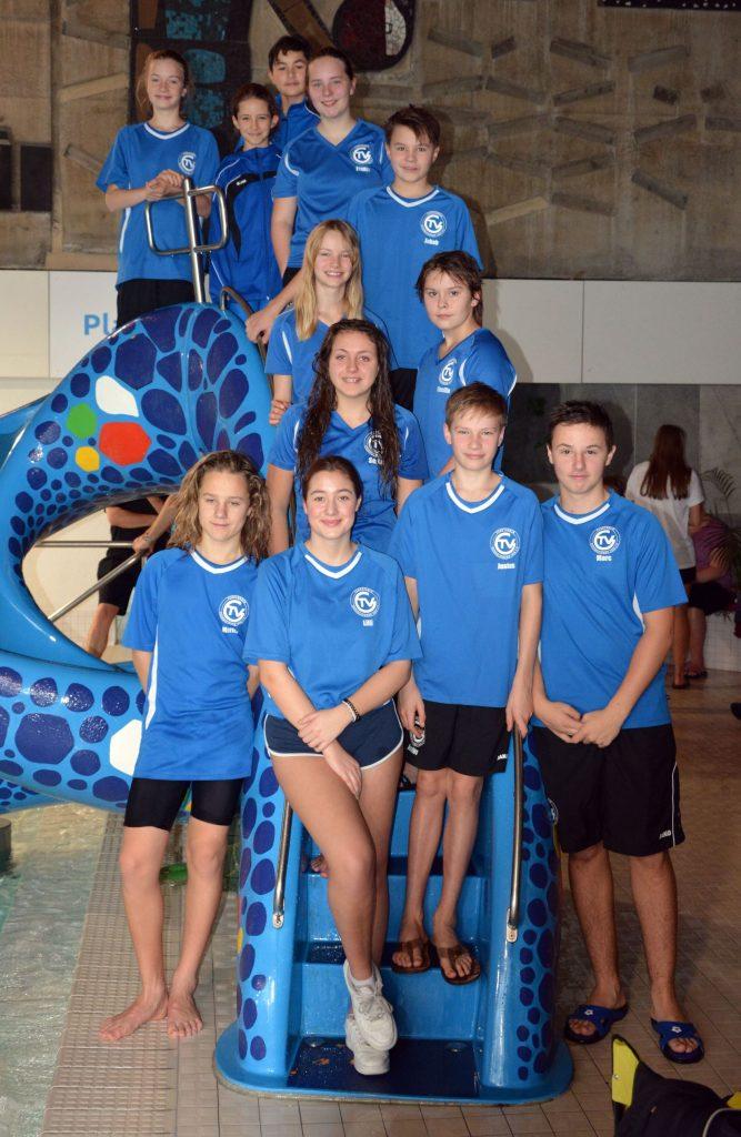 TVG-Team beim Weihnachtsschwimmfest Villingen 2017