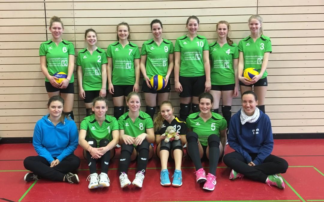 Die Volleyball-Damen 2 weiter auf Siegerkurs