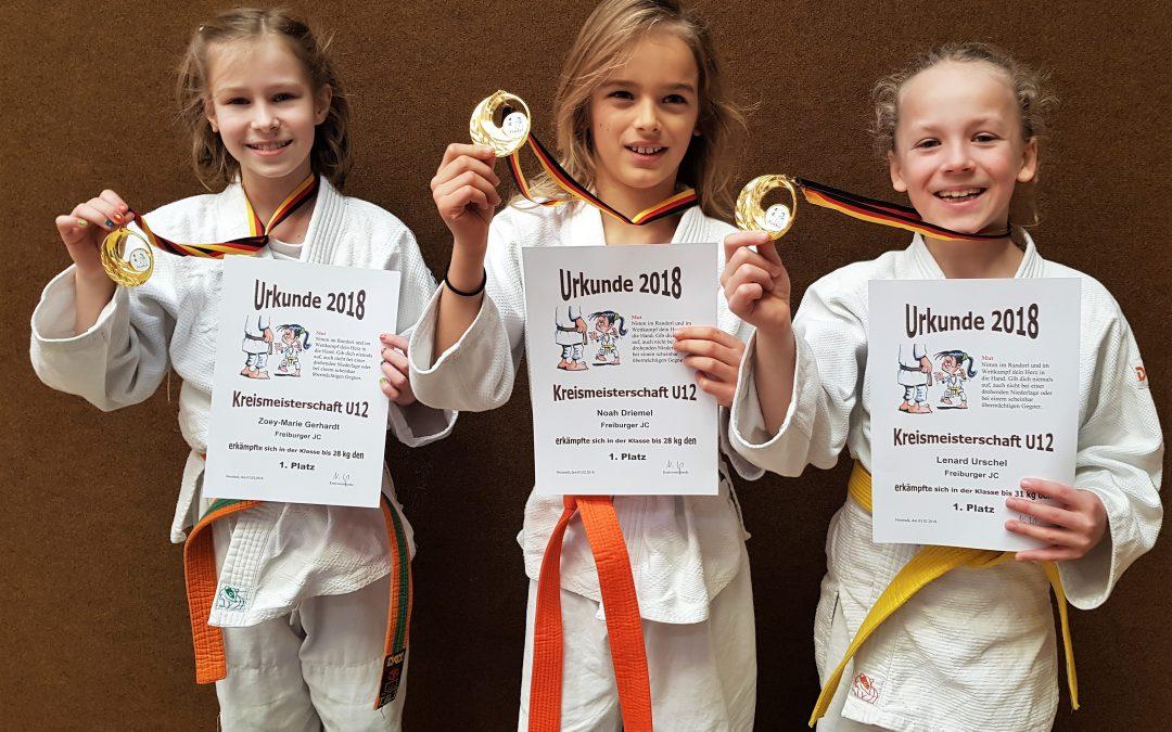 Gold für Noah, Lenard und Zoey-Marie bei den Judo Kreismeisterschaften U12