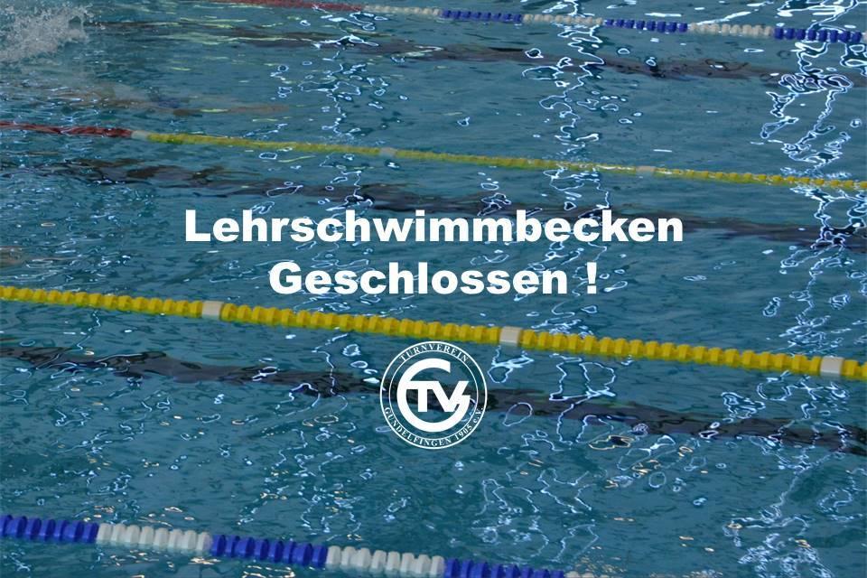 Lehrschwimmbecken am Brückentag geschlossen!