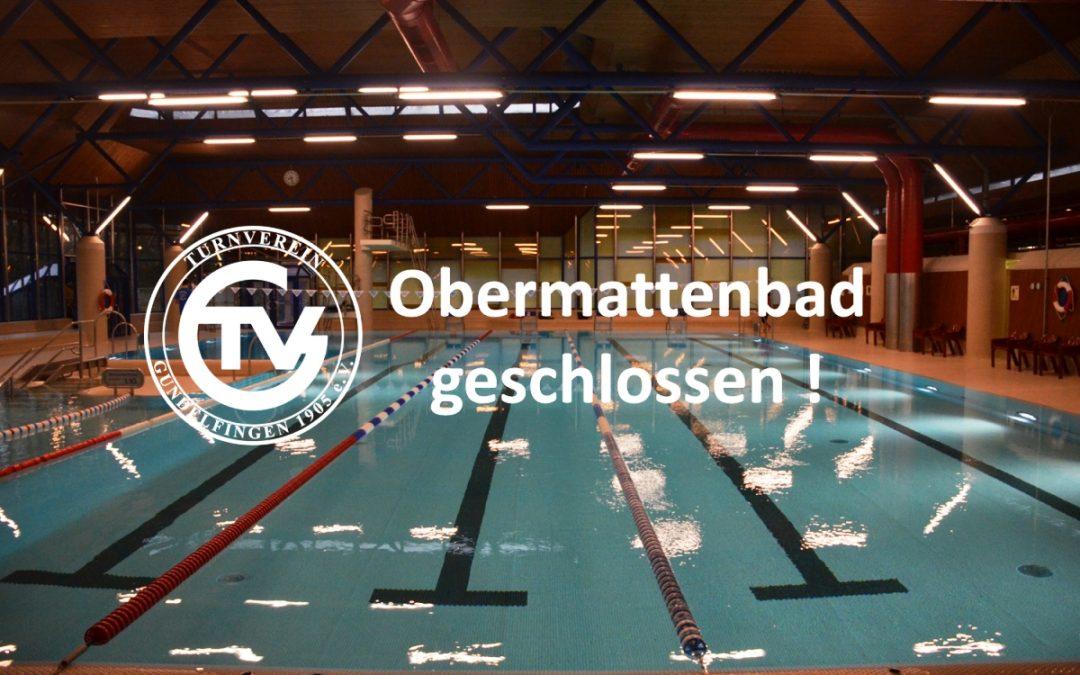 Obermattenbad vom 04.06.2018 bis voraussichtlich 06.07.2018 geschlossen ! Aktualisierung 18.05.2018