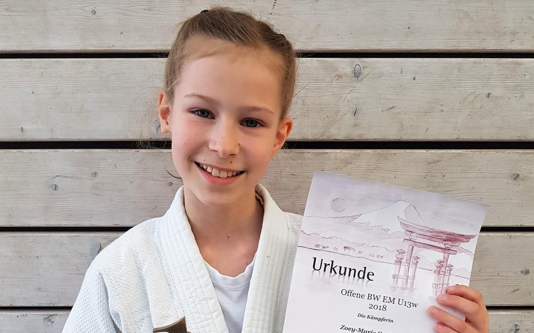Zoey-Marie wird Baden – Württembergische Landesmeisterin