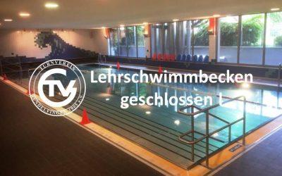 Lehrschwimmbecken vom 10.-22. September geschlossen!