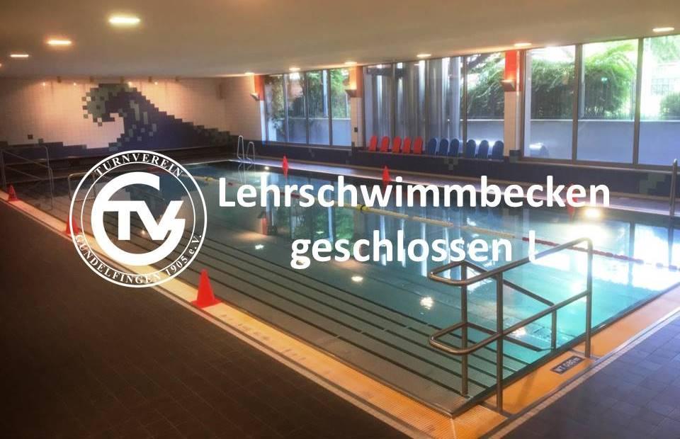 Schließung Lehrschwimmbecken vom 23.02. bis 03.03.2018