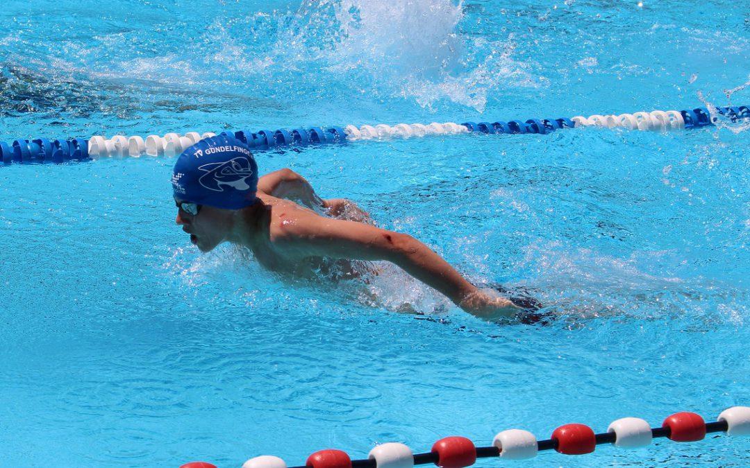 TVG-Schwimmteam beim ersten Freibadwettkampf  der Saison in Müllheim