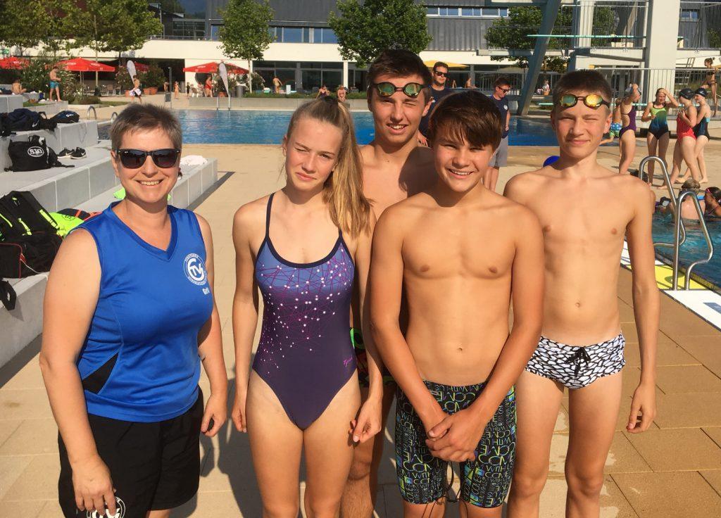 TVG-Schwimmteam bei den badischen Sommermeisterschaften 2019